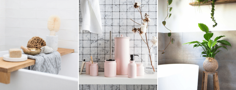 Decorate bathroom accessories styling